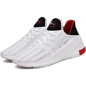 a3ea83da7 TUOKING Chaussures de Course pour Hommes Chaussures de Jogging ...