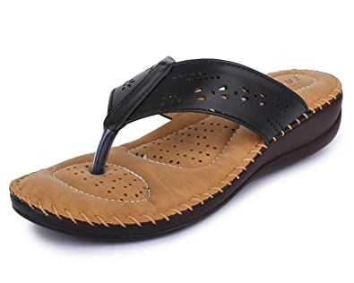 696b257a4 TRASE Dr - Plus I Brown Black Cherry Ortho Slippers for Women (with  Comfortable Doctor Sole)  Buy Online at Low Prices in India - Amazon.in