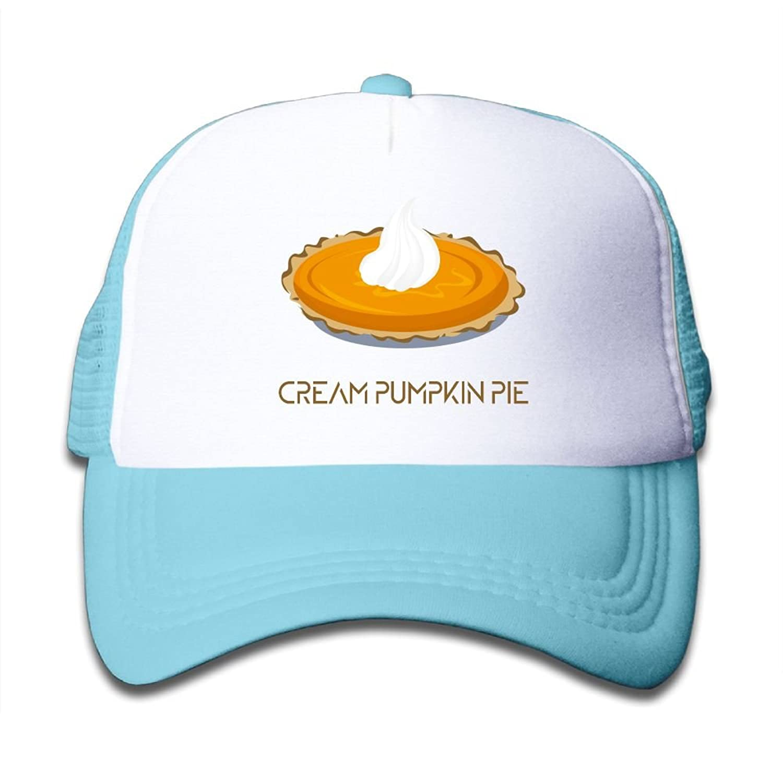 Caps VF4 Cream Pumpkin Pie Baby Boys AdjustableTrucker Visor Cap Cute Hat