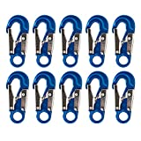 Fusion Climb Metillo Aluminum Double Lock Captive Eye Forged Snap Hook 10-Pack