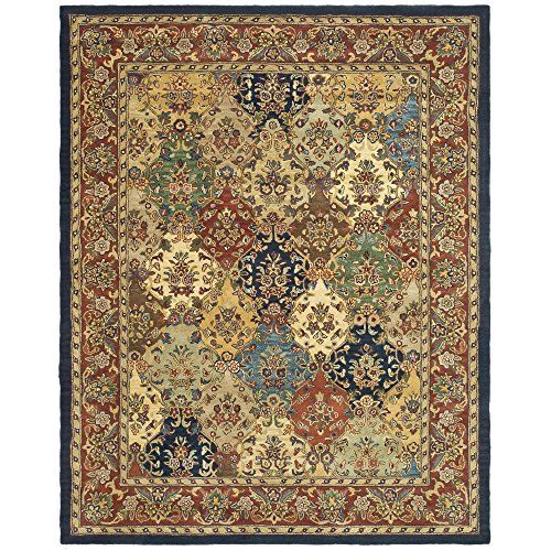 Safavieh Heritage Collection HG911A Handcrafted Traditional Oriental Multi and Burgundy Wool Area Rug (12' x 18')