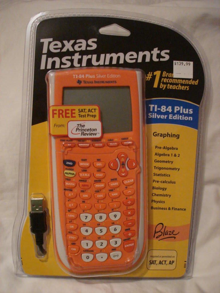 Amazon.com : TI-84 Plus Silver Edition Graphing Calculator (Orange ...