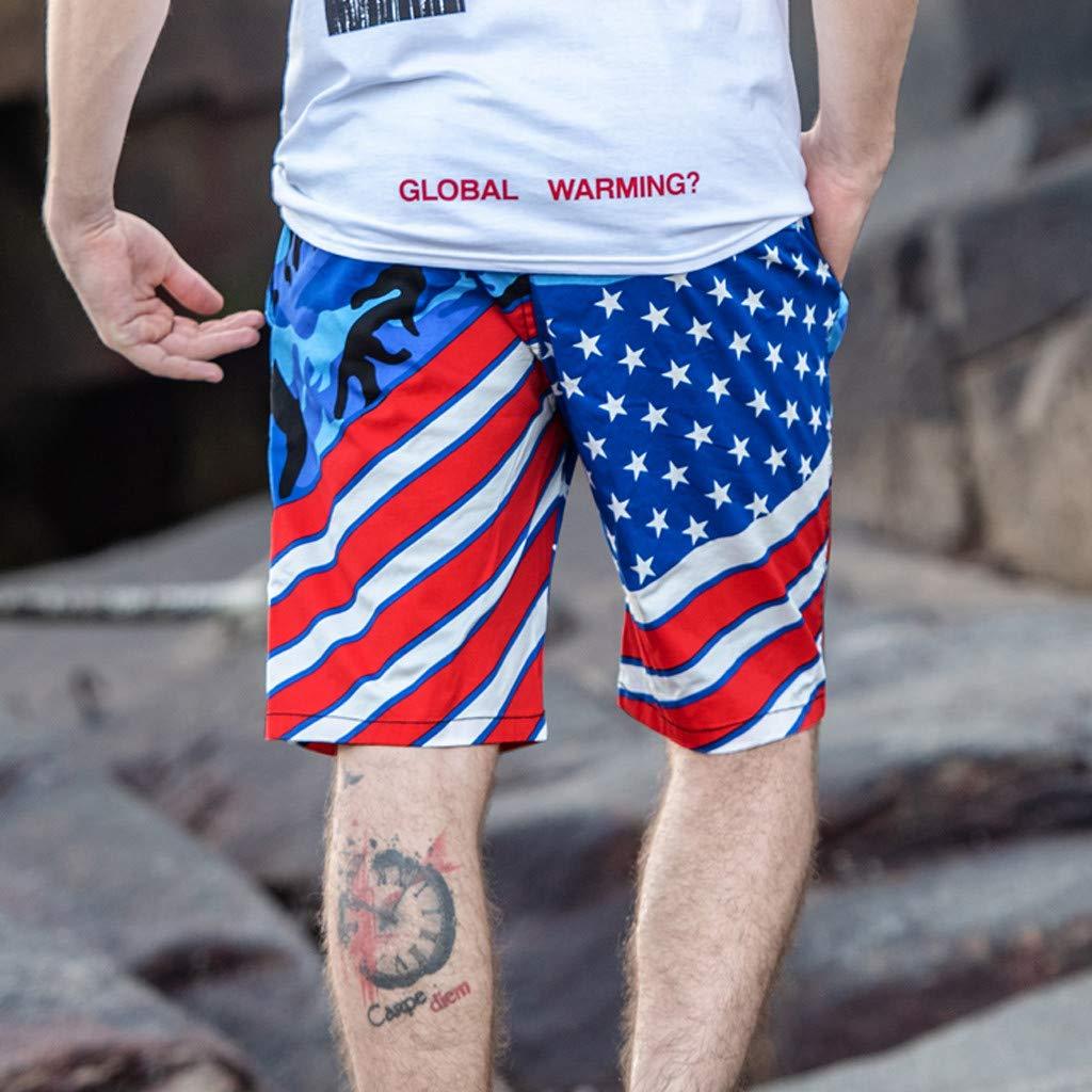 Palarn Sports Pants Casual Cargo Shorts Mens New Summer Fashion Casual Color Collision Loose Beach Sport Shorts Pant