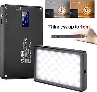 MAMEN LED Video Light Lamp Dimmable 3000K-6500K 120pcs LEDs CRI95 Built-in Battery DSLR Camera Photography Fill Light