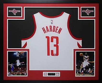 online retailer 4191c 0f919 James Harden Autographed White Houston Rockets Jersey ...
