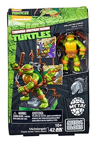Mega Bloks Teenage Mutant Ninja Turtles Collectors 1987 Classic Michaelangelo Figure - Ninja Turtles Michaelangelo