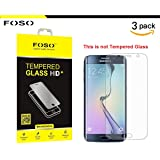 Samsung Galaxy S6 Edge Plastic Flim Screen Protector (HD Ultra Clear Film TPU Curved Edge to Edge By FOSO(™) [3 PACK]