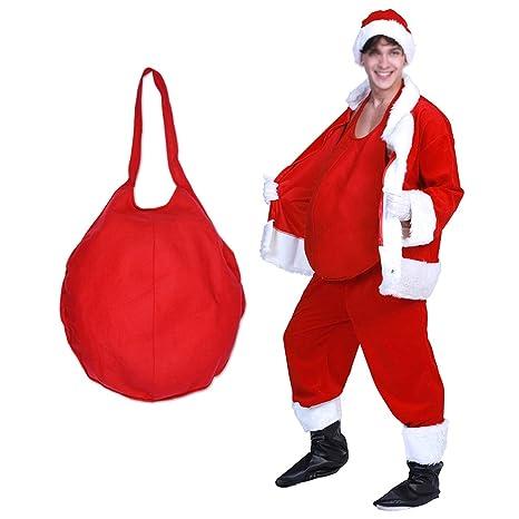 STOBOK Traje Vientre Falso Santa Claus Prop Cosplay para Navidad ...