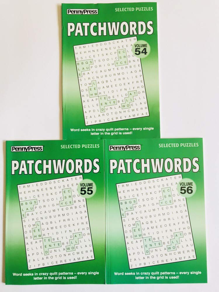 Amazon.com: Volume numbers 54, 55, and 56 PATCHWORDS Word ...