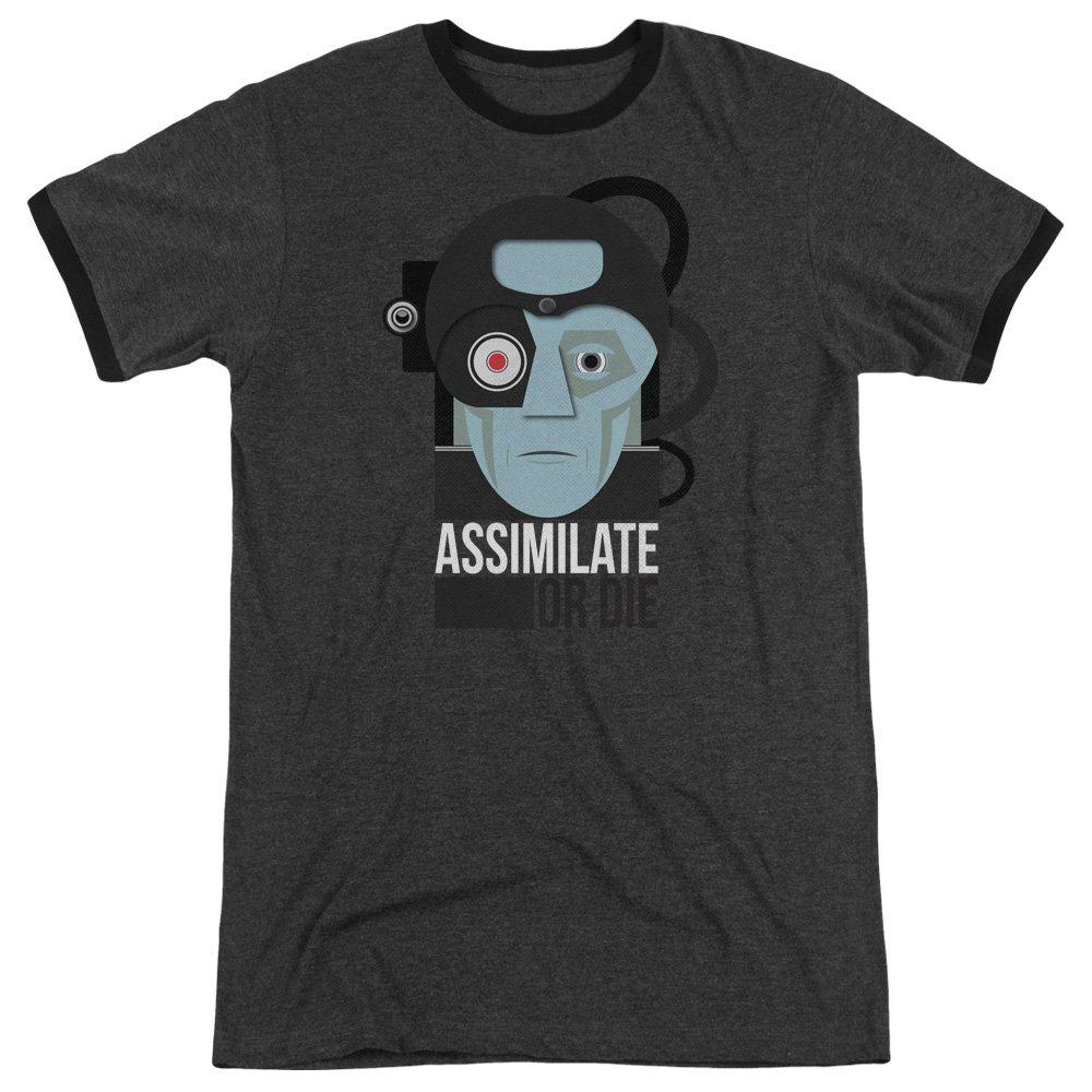 Star Trek Assismilate Or Die Adult Ringer T-Shirt