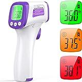 Termometro Infrarrojos Digitales, KKmier Termómetro Infrarrojos Médico sin Contacto con Pantalla LCD, Termómetro de…