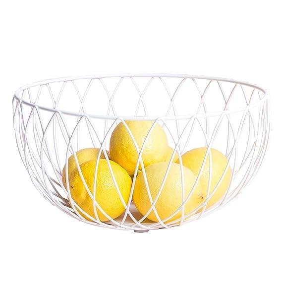 CKH Cesta de fruta de hierro forjado creativa Cesta de almacenamiento de comida minimalista moderna europea Cesta de fruta multifuncional: Amazon.es: Hogar