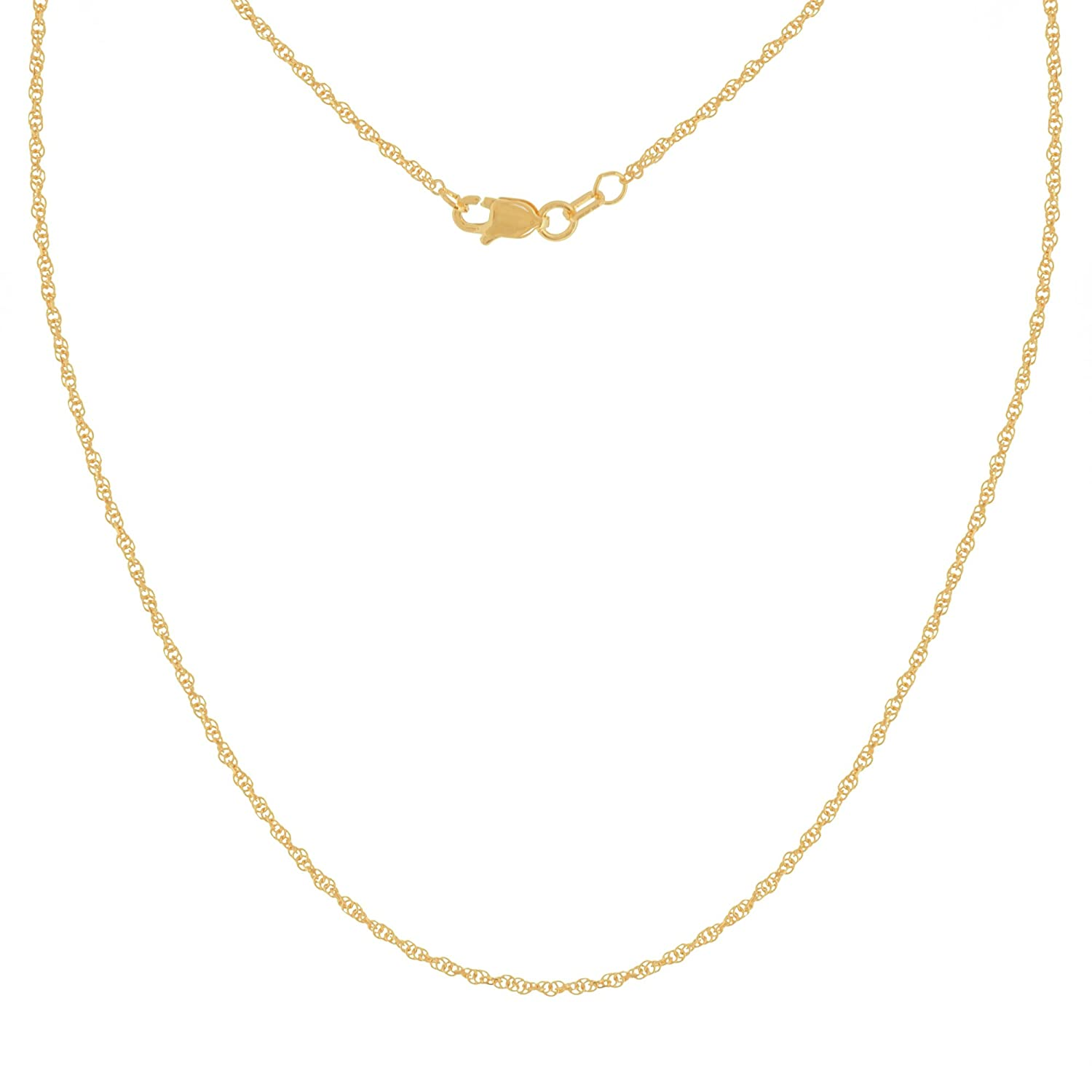 ROPE CHAIN, 10KT GOLD DOUBLE ROPE DIAMOND CUT CHAIN 1.05MM WIDE , 18 INCHES LONG