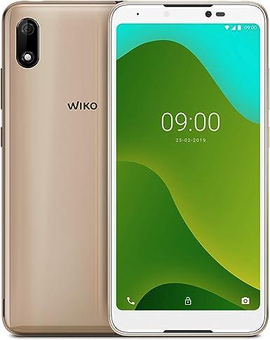 """WIKO Y70 + Carcasa – Smartphone de 5,99"""" (Dual SIM, 16GB de ROM ampliables, Altavoces Duales, Quad-Core 1,3GHz, 1GB RAM, cámaras de 8 y 5MP, batería 3730 mAh) – Color Oro: Wiko: Amazon.es: Electrónica"""