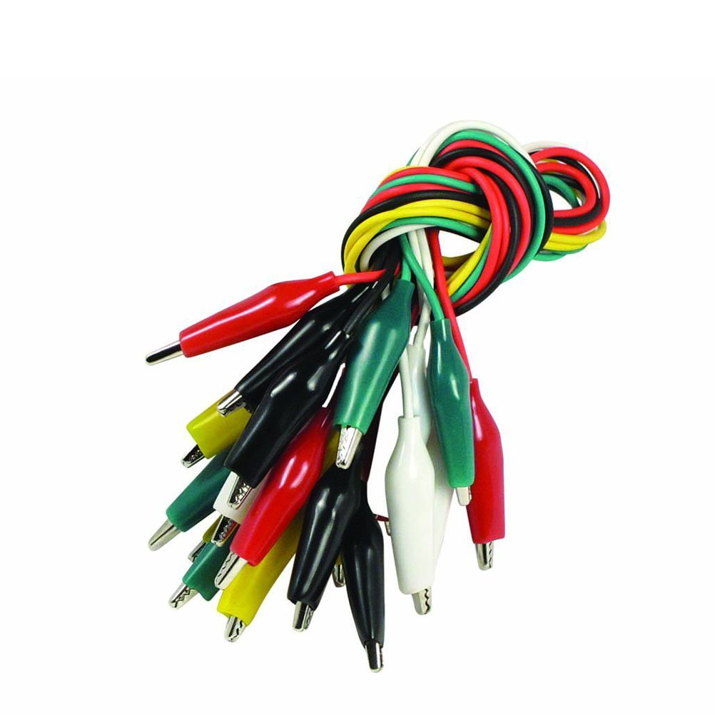 WINOMO Double-ended Alligator Clips Wire Crocodile Clips Cable Alligator Testing 10pcs