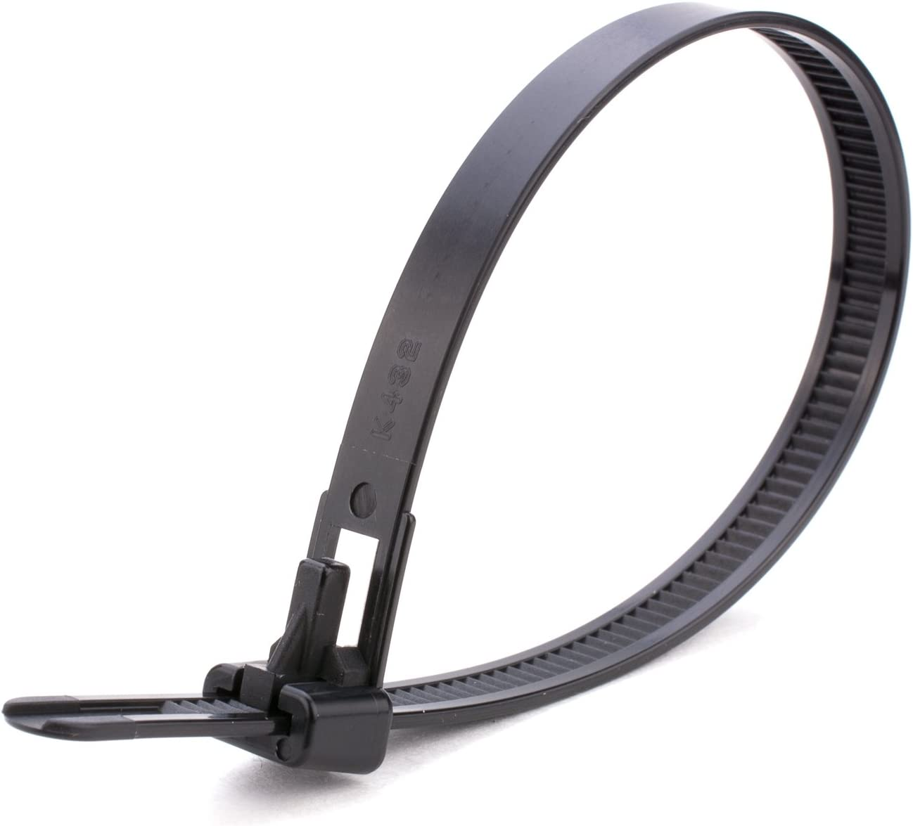 Gocableties - Lote de 100 bridas resistentes para cables (250 x 7,6 mm, reutilizables, 250 x 7,6 mm), color negro