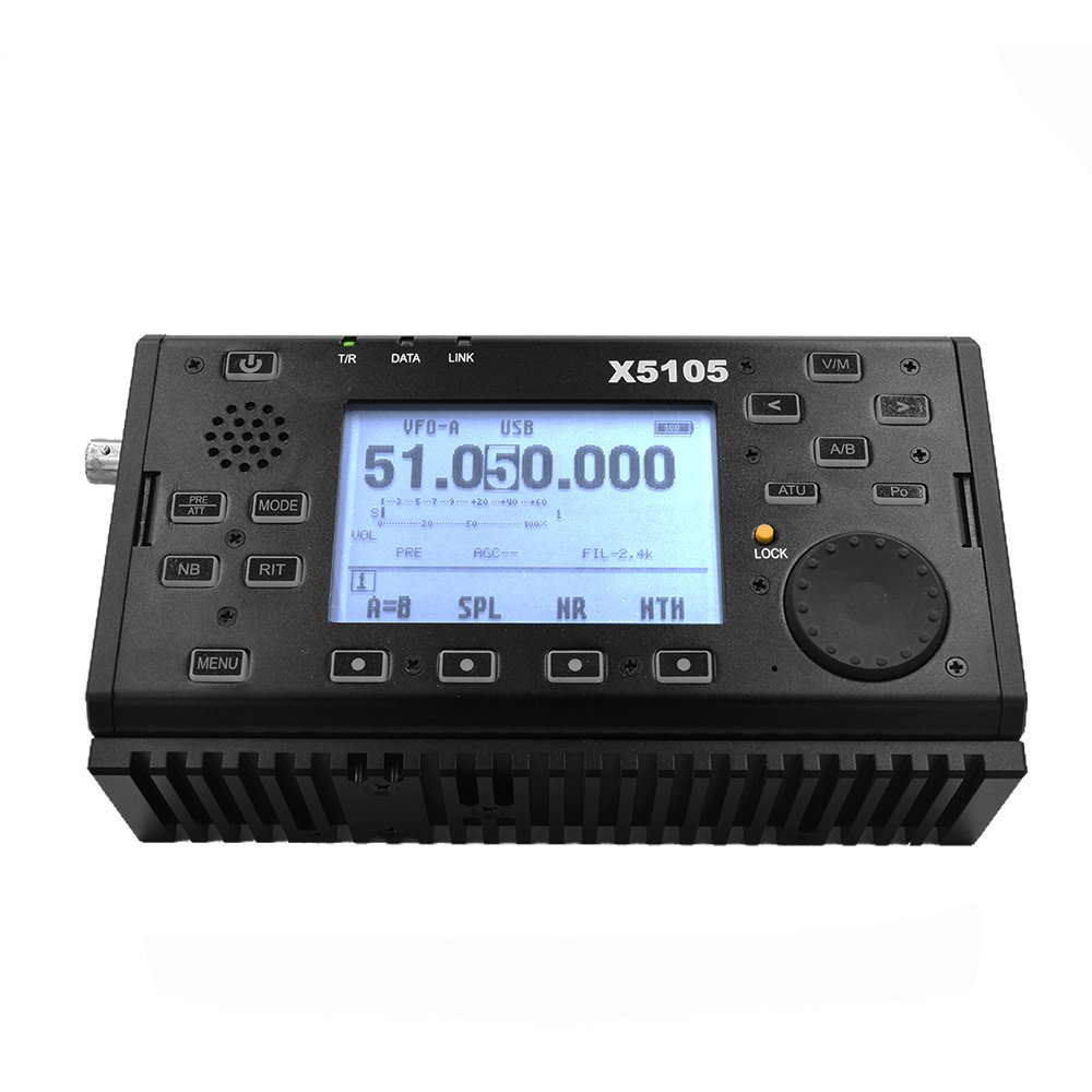 Xiegu X5105 OUTDOOR VERSION 0.5-30MHz 50-54MHz 5W 3800mAh HF TRANSCEIVER with USB Cable,IF Output, All Bands Covering SSB CW AM FM RTTY PSK Black by Xiegu (Image #7)