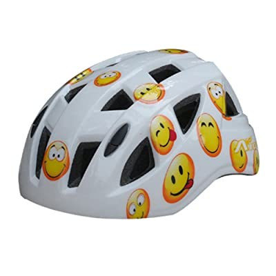 Cartoon Smile Face Roller/vélo/skateboard Casque (Blanc)