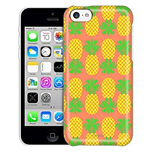 Apple iPhone 5C Case, Slim Fit Snap On Cover by Trek Up and Down Pineapple Pattern Trans Case