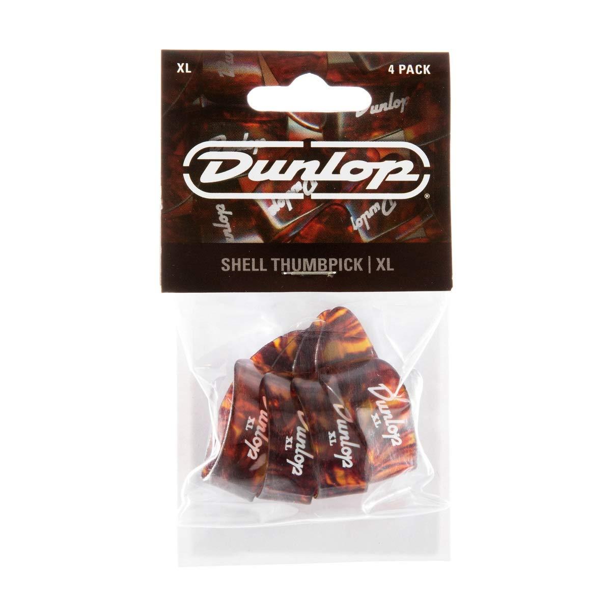 DUNLOP 9024P SHELL THUMBPICKS PACK OF FOUR XL Jim Dunlop 9024P XL