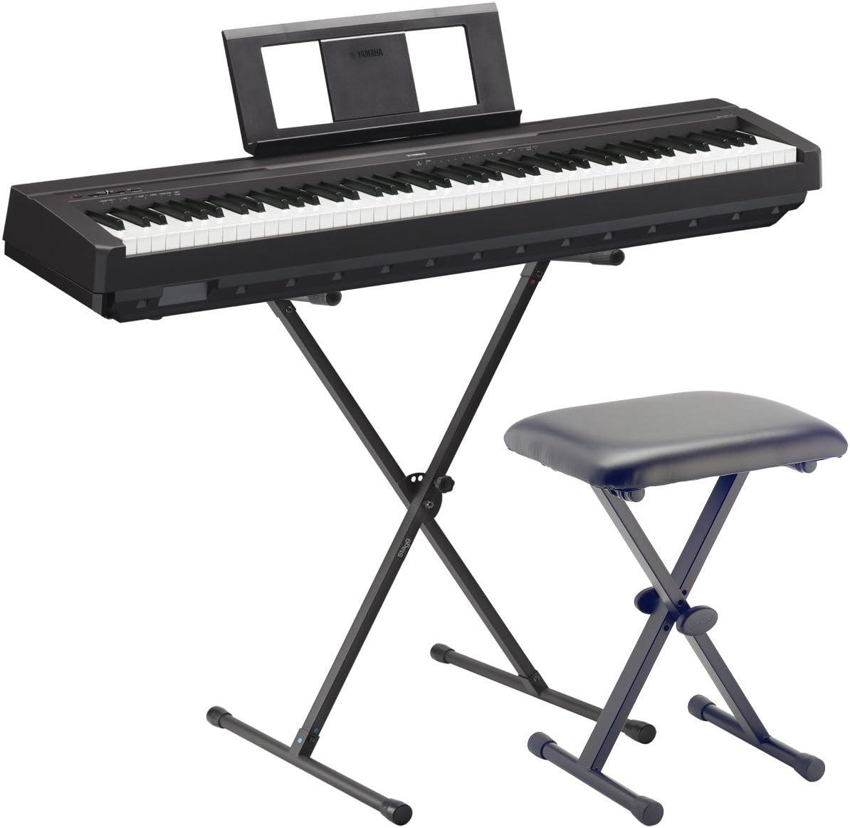 Yamaha E-Piano P45 BK SET2 con soporte y banco, negro