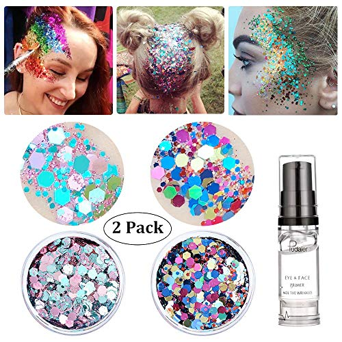 Holographic Chunky Body Glitter, Christmas Decorations Makeup Beauty