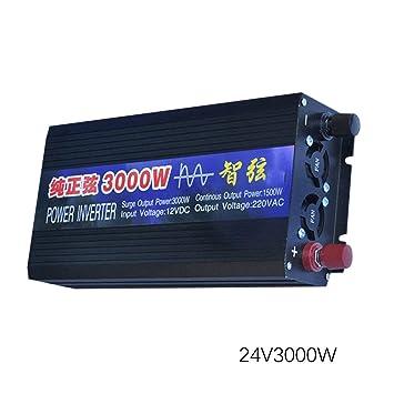 WOSOSYEYO ZHIXIAN Inverter Power Sine Wave Dc12v Dc24v a Ac220v 3000W Pantalla LCD: Amazon.es: Juguetes y juegos