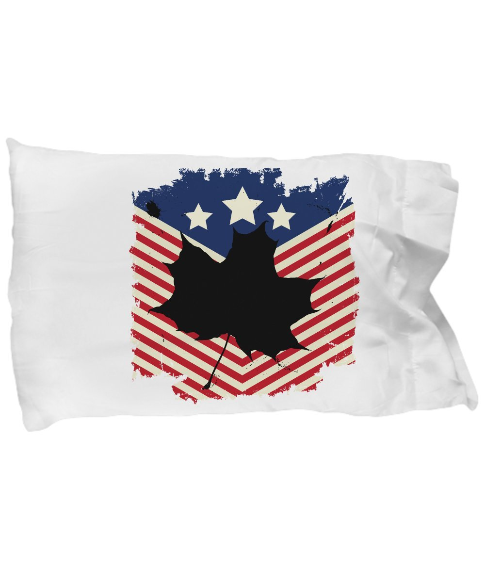 Funny Novelty Gift For 4th of July Maple Life American Flag Best Fourth of July, Independence, Day, America, USA, US, Maple Pillow Case