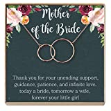 Mother of the Bride Gift Necklace: Wedding Gift, Bridal Party, Rehearsal Dinner, Woman of My Dreams, Parent of Bride (rose-gold-plated-brass, NA)