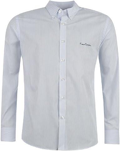 Camisa Pierre Cardin blanca/azul cielo rayas Blanc/Bleu rayé ...