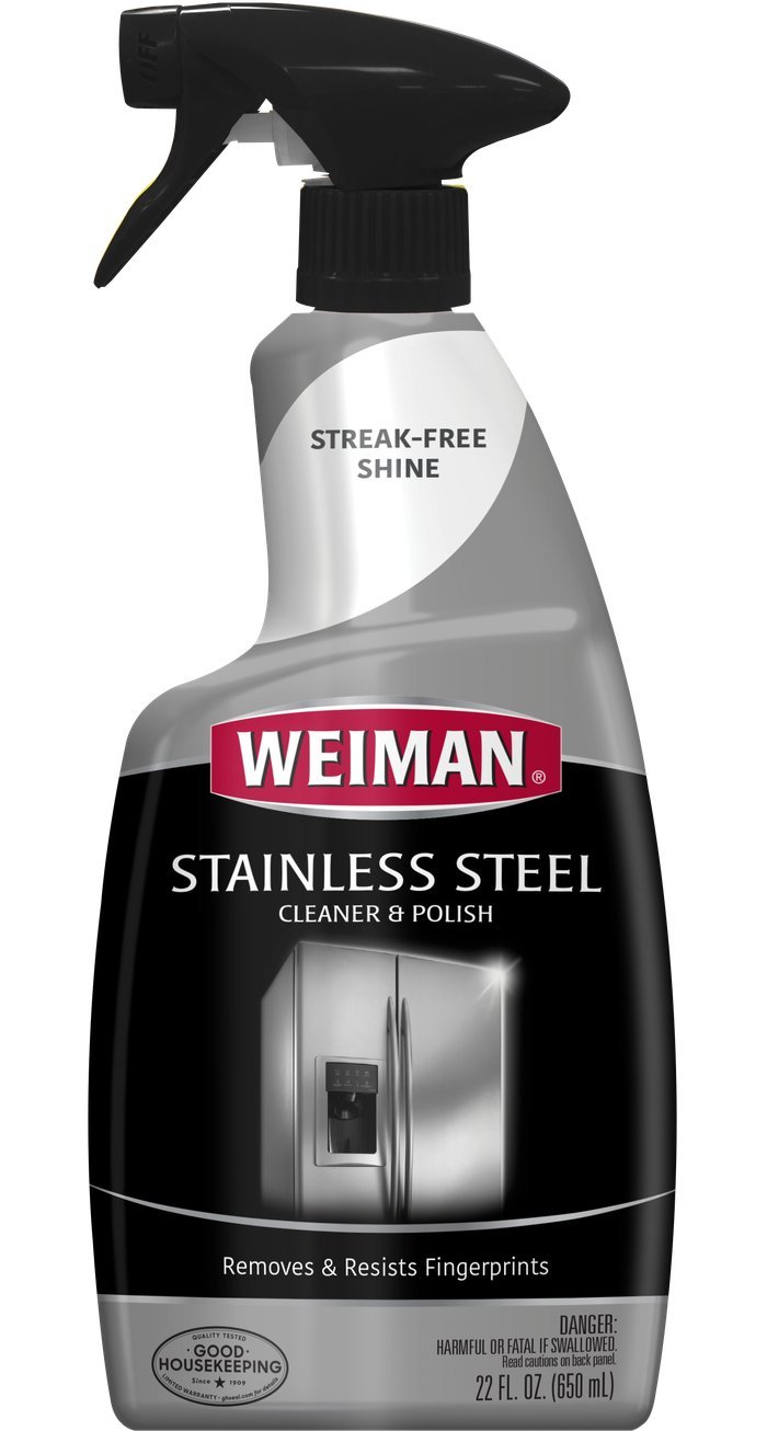 Weiman Stainless Steel Cleaner & Polish Trigger Spray - Protects Appliances From Fingerprints and Leaves a Streak-free Shine - 22 fl. Oz. ( 2 Pack)