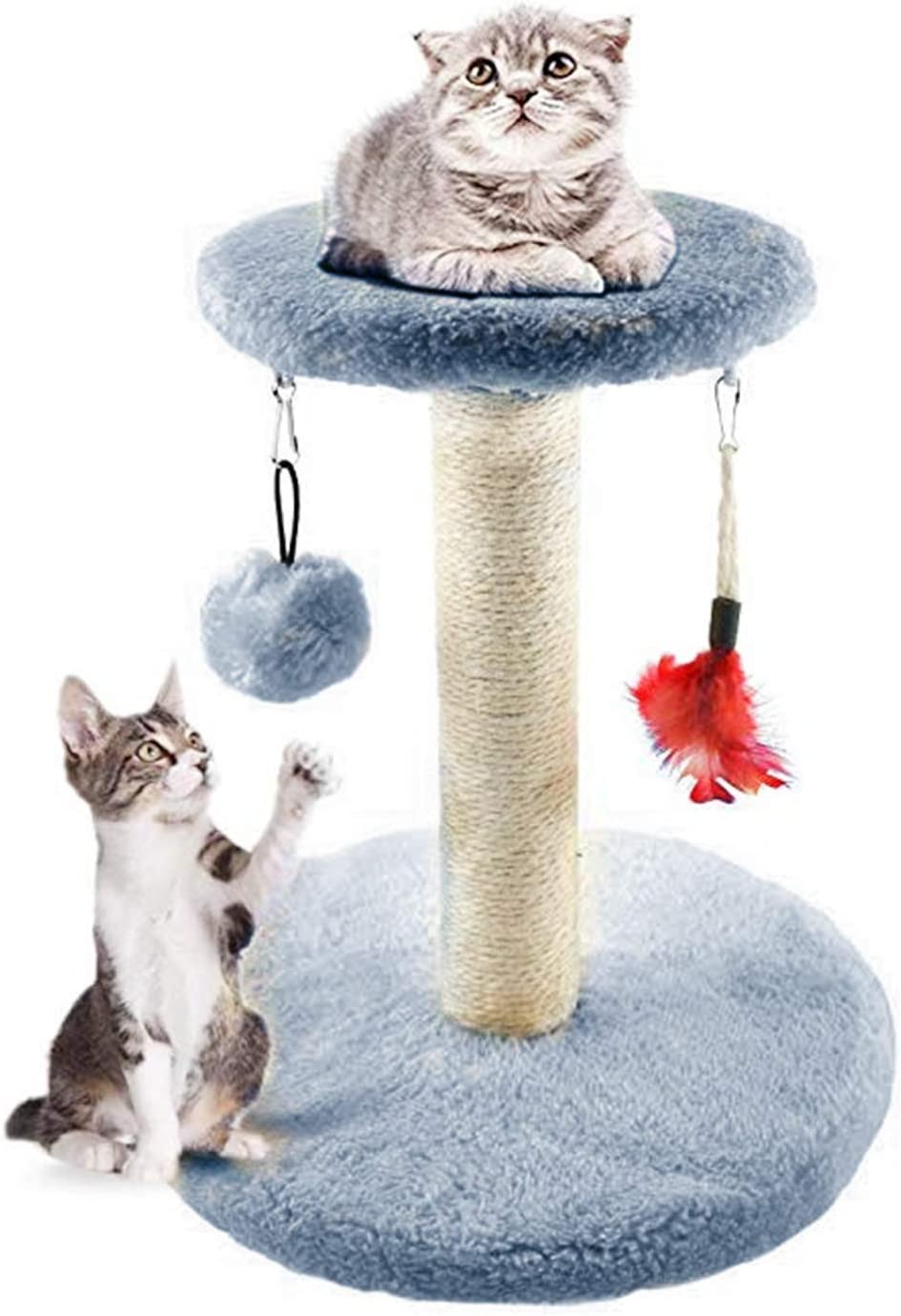 Gray MXiiXM Cat Tree Tower Arbres /à Chat griffoir Cat Climbing Frame Activity Trees Furniture Scratching Post for Kitty Climber House Cat Play Tower Activity Centre for Playing Relax and Sleep