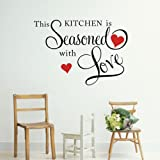 THIS KITCHEN IS SEASONED WITH LOVE Wall Quote Sticker ART Home KITCHEN D¨¦cor