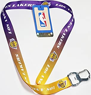 Amazon.com: NBA Los Angeles Lakers Black Keychain Lanyard ID ...