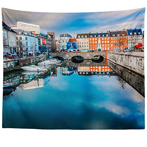 Westlake Art   Wall Hanging Tapestry   Canal Water   Photography Home Decor Living Room   51X60in