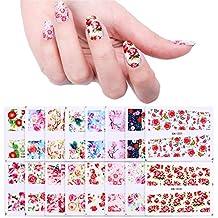 BORN PRETTY Nail Art Water Decal Flower Manicure Tatoo Transfer Stickers Rose Sakura Butterfly 48 Patterns Set