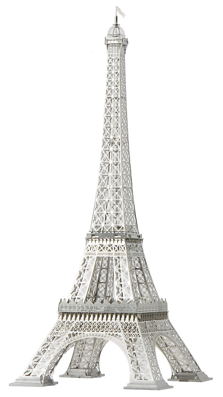 Eiffel Tower - 1/1000 Stainless Steel Scale Model by Aerobase - Unique Model from Japan
