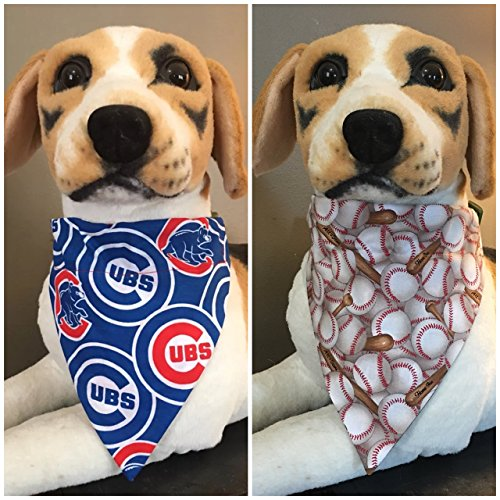 MLB Reversible Pet Bandana Chicago Cubs Over The Collar ()