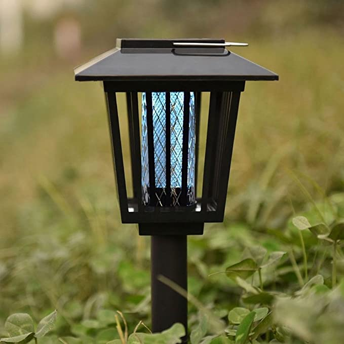 Amazon.com: LEDMOMO 2Pcs Electronic Bug Zapper Solar Powered Mosquito Killer Lamp Outdoor Insect Repel Lamp for Garden and Yard: Home Improvement