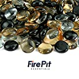 Tiger Eye - Blended Fire Glass Beads for Indoor and Outdoor Fire Pits or Fireplaces | 10 Pounds | 1/2 Inch