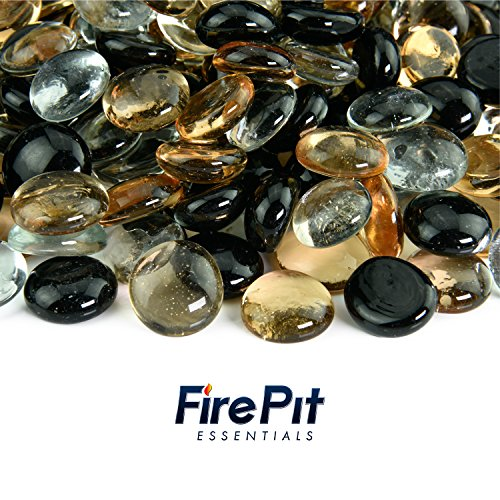 Tiger Eye - Blended Fire Glass Beads for Indoor and Outdoor Fire Pits or Fireplaces | 10 Pounds | 1/2 Inch (Rocks With Pit Glass Outdoor Propane Fire)
