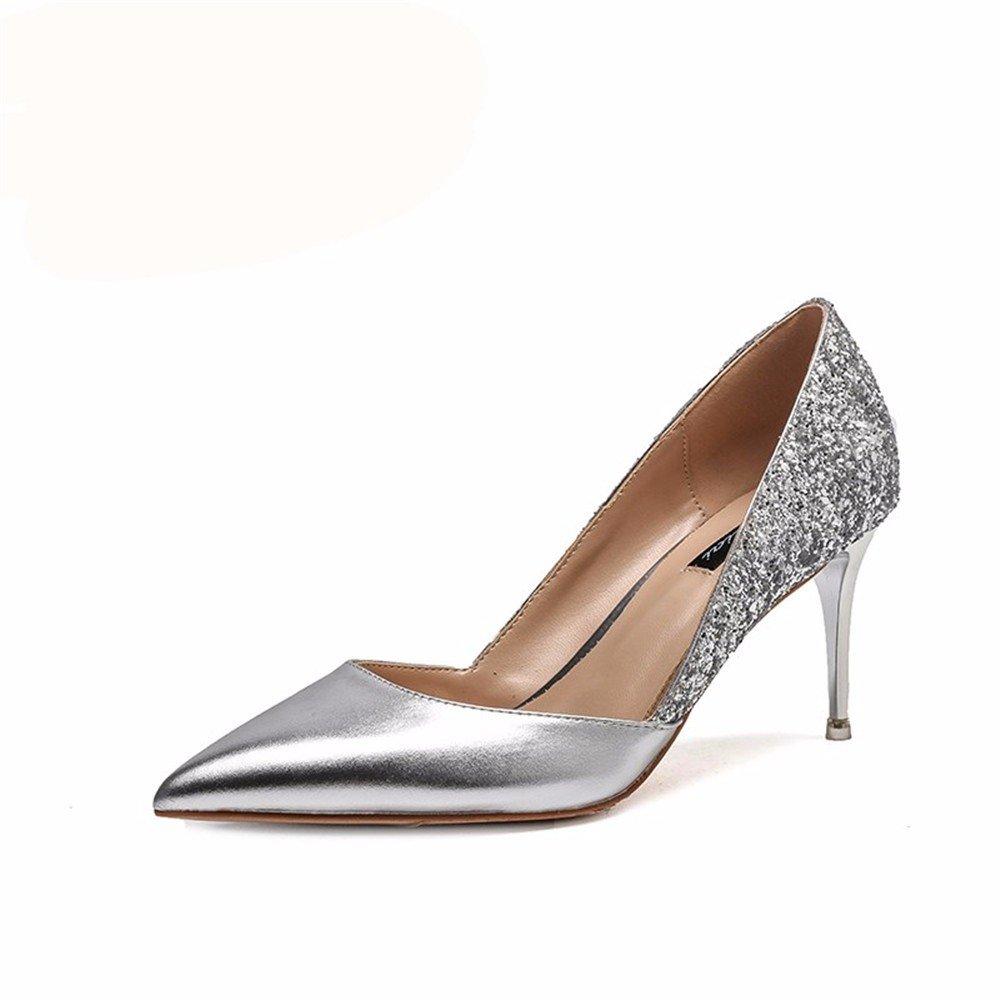 HXVU56546 Die Neue Neue Neue Herbst Damen High Heels Mit Feiner Spitze Glänzend Stilvolles Und Charmantes Einzelne Schuhe b82bef