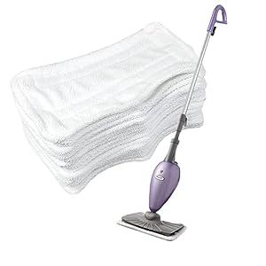 Resulzon Vacuum Cleaner Microfiber Replacement Pads for Shark Deluxe Steam Mop,12 pcs