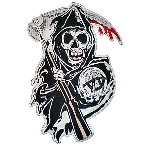10x15 Reaper Bloody Biker Patch product image