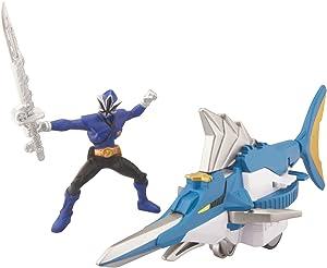 Power Ranger Zord Vehicle w/ Figure, SwordfishZord with Blue Ranger