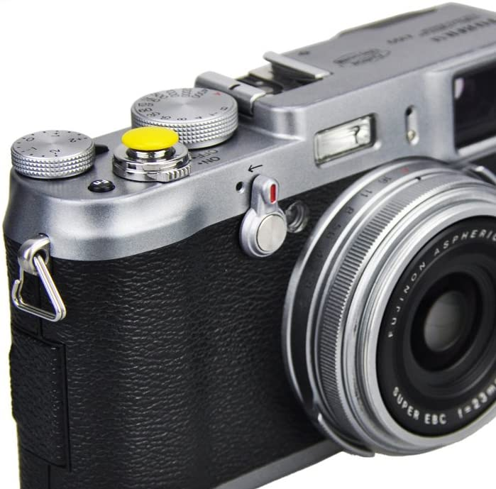 X100T X-E2,X-E2S X-T10 X10 X-E1 STX-2 LXH 1 Pack Handmade Convex Soft Release Button Finger Touch Fits Any Standard Threaed Release for Fujifilm X-PRO2 X30 X100 X100S X20 XPRO-1,X100F