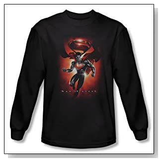 Superman Man of Steel - Title Men's Long Sleeve T-Shirt