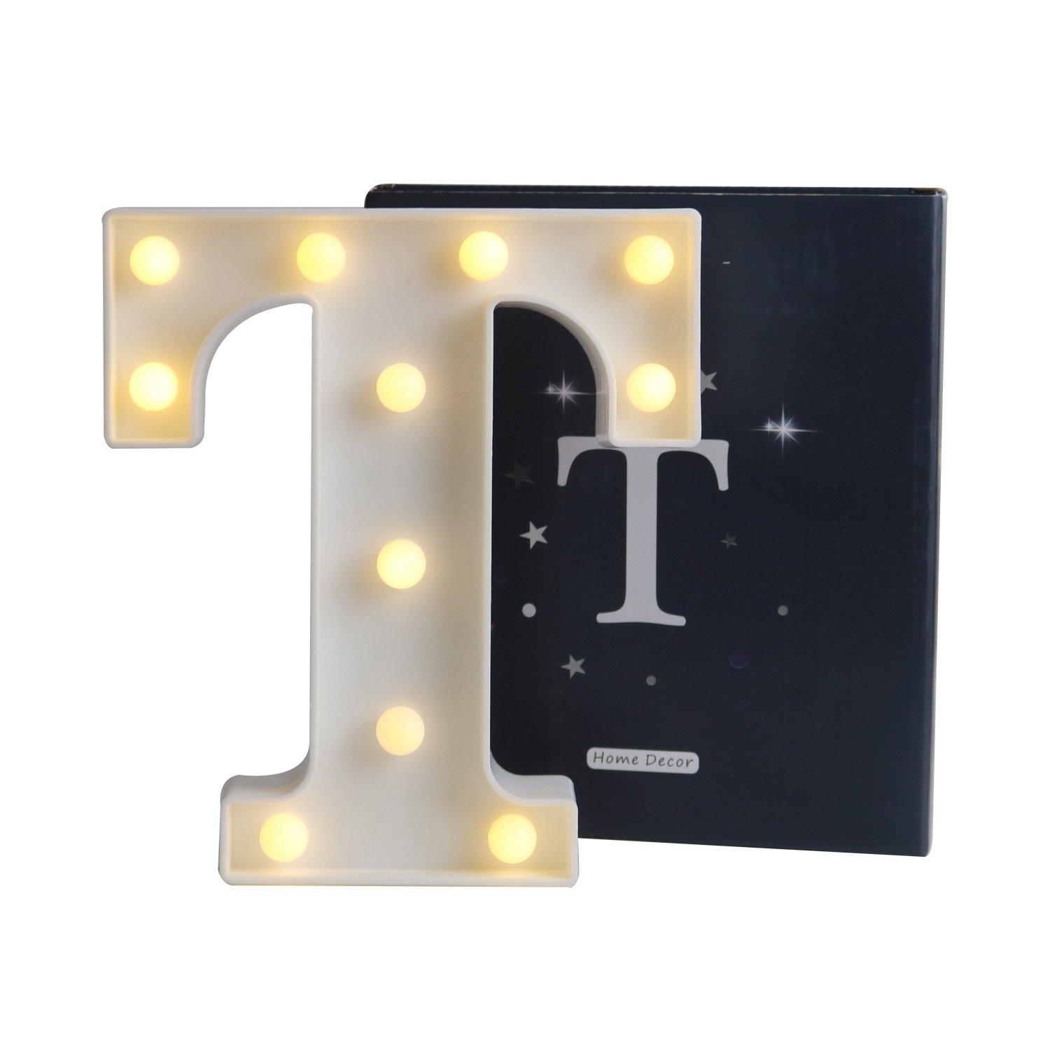 DELICORE LED Marquee Letter Lights Alphabet Light Up Sign for Wedding Home Party Bar Decoration T