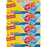 Best Glad Grocery Bags - Glad Food Storage Bags, Freezer Zipper Gallon, 40 Review
