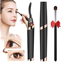 Heated Eyelash Curler Electric USB Rechargeable Quick Heating Long Lasted Curled Painless Curved Beauty Make up Tool…